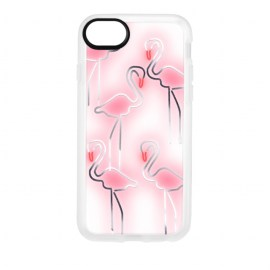 [docomo Select] Casetify Grip for iPhone 8 グリッター フラミンゴ