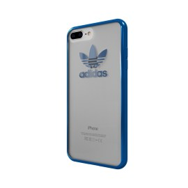 【取扱終了製品】adidas Originals TPU Clear Case iPhone 7 Plus Blue Metallic