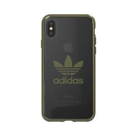 adidas Originals Clear Case iPhone X Military Green Logo