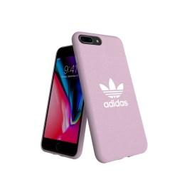 adidas Originals adicolor Moulded Case iPhone 8 Plus Clear Pink