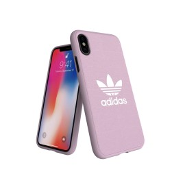 adidas Originals adicolor Moulded Case iPhone X Clear Pink