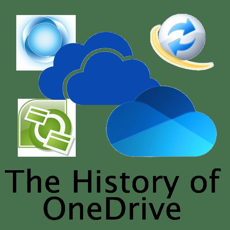 History Of OneDrive Logos