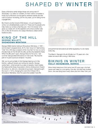 2011 Montana Winter Guide - featuring an image of M. Scott Brauer