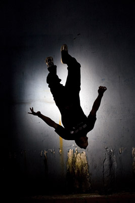 Members of Nanjing's TNT parkour team practice the sport in Nanjing, Jiangsu, China.