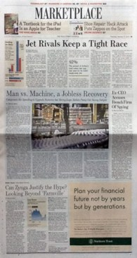 Wall Street Journal page B1, Jan. 17, 2012