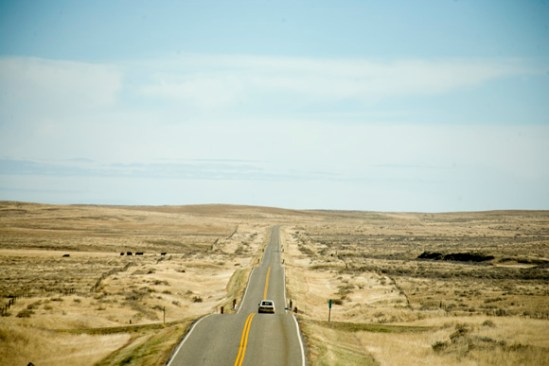 Highway 200 stretches into eastern Montana.