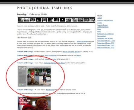 We Chinese - featured on Photojournalism Links (Feb. 1, 2011)