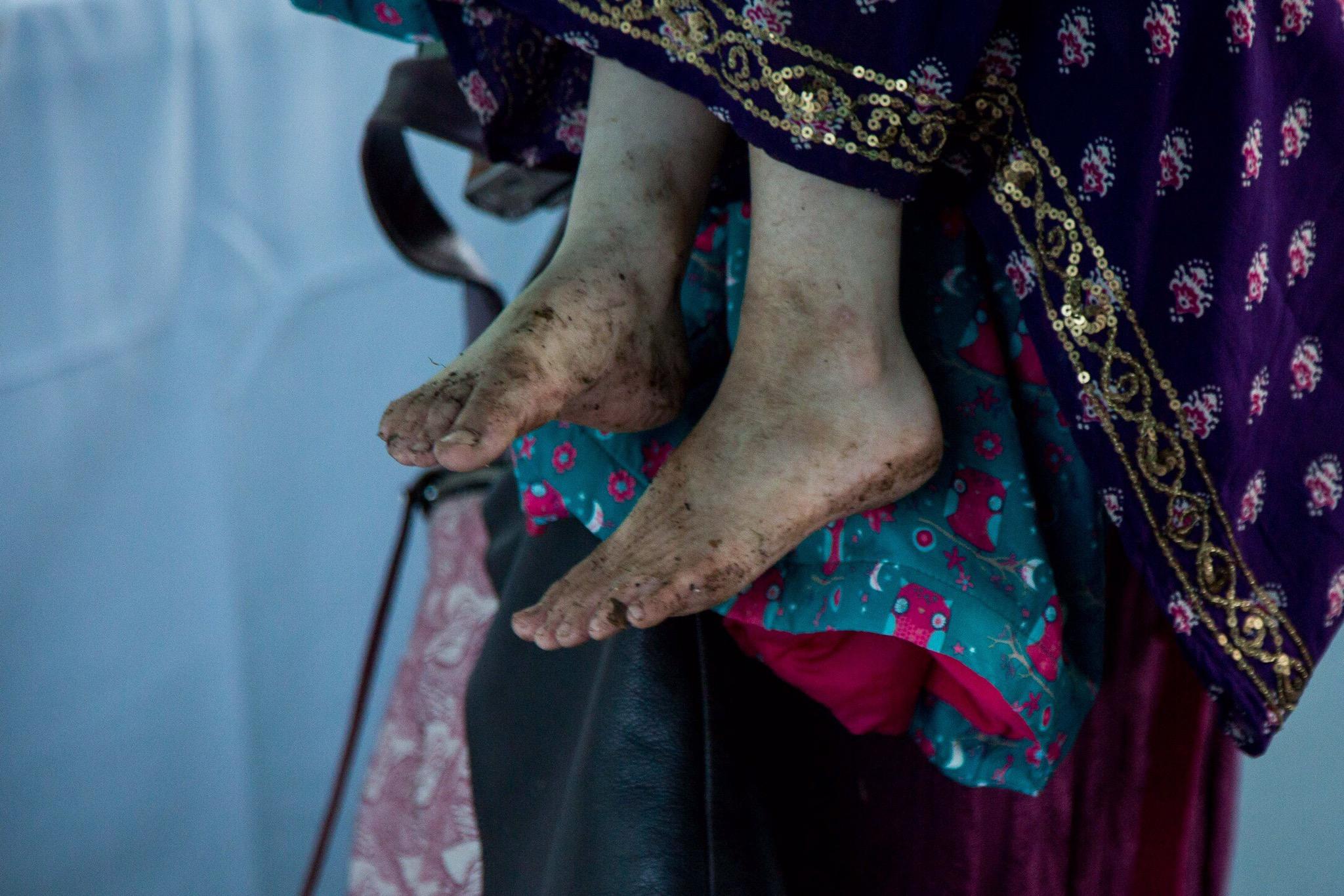 My daughter's muddy feet