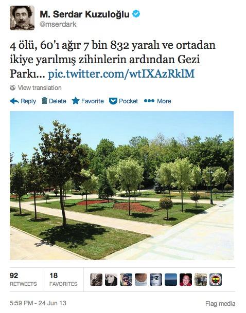 Twitter - mserdark- 4 ölü, 60'ı ağır 7 bin ...