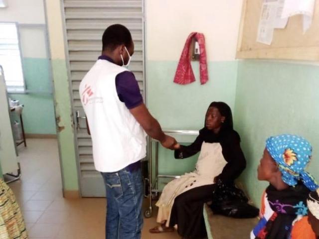 Les équipes MSf soutiennent la structure de santé de Fada. Burkina Faso. 2020.© MSF