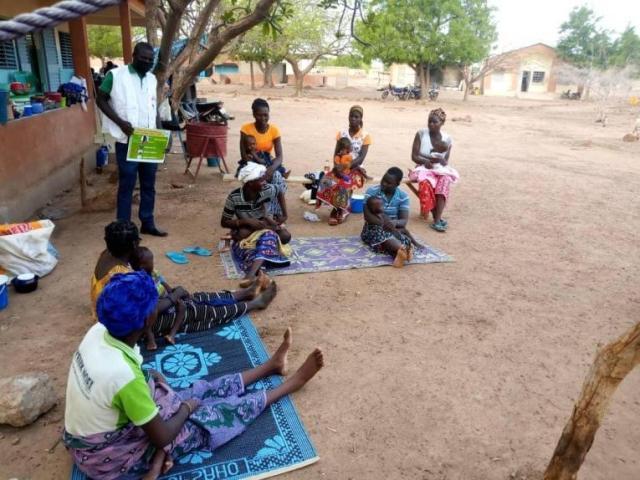 Une structure de santé soutenue par MSF à Fada. Burkina Faso. 2020.© MSF