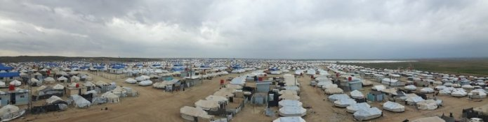 Panorama of Al Hol camp from phase 1 water tower. Al Hassakeh Governorate