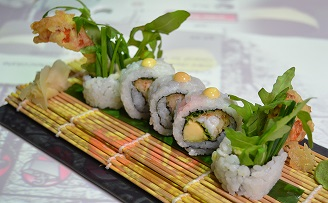 Soft shell crab maki rolls