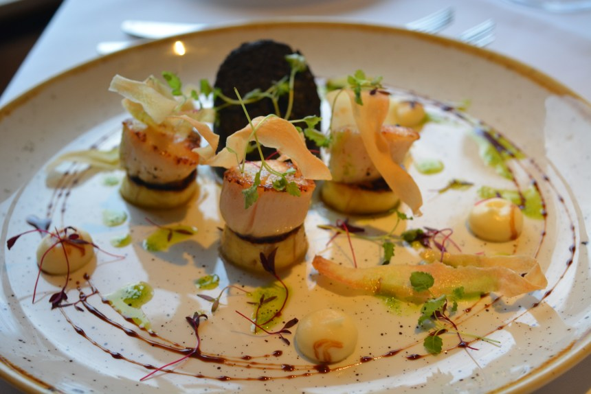Sauteed Scallops with Black Pudding