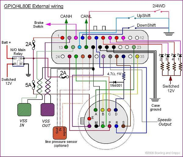 4l60e transmission shift solenoid wiring diagram  wiring 1