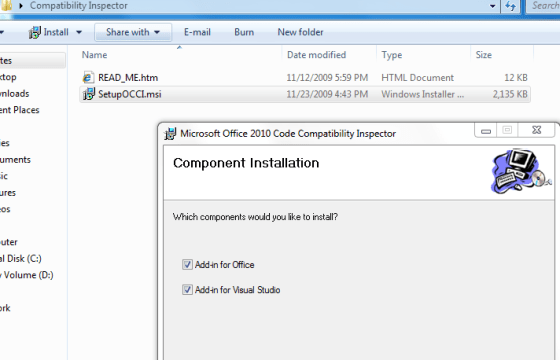Component Installation - Compatibility Inspector