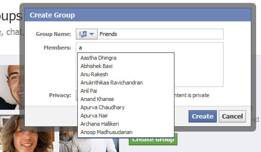 Adding Friends to Facebook Groups