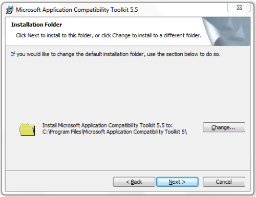 Application Compatibility Toolkit - Installation Location