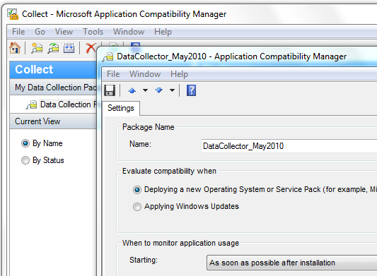 Creating a Data Collection Package - Application Compatibility Manager