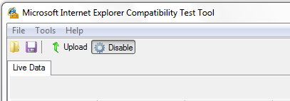 Disable - Internet Explorer Compatibility Test Tool