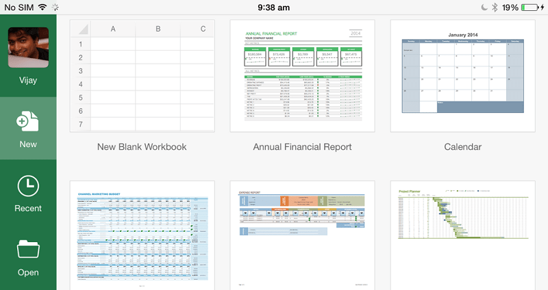 Excel for iPad