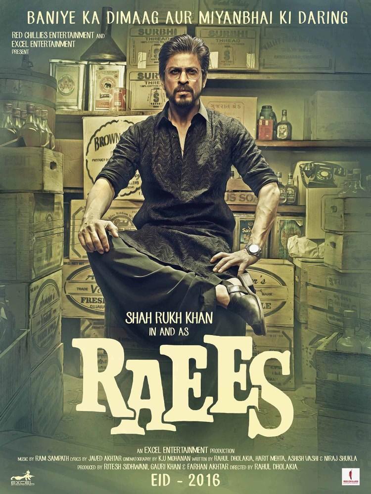 Raees Poster Black