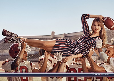 Tommy Hilfiger ad campaign for Fall 2015 titled 'TEAM HILFIGER'