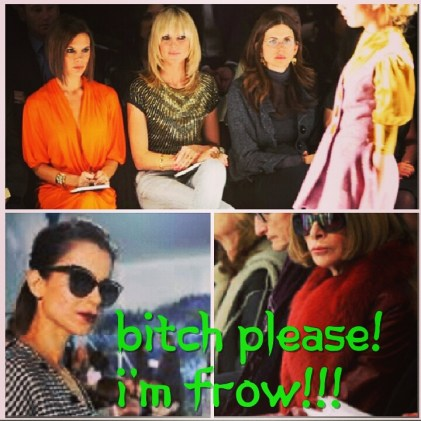 (Clockwise from top) Victoria Beckham, Kangana Ranaut and Anna Wintour show the perfect ice queen expression at major fashion weeks of the world.