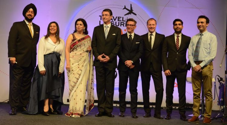 (from L to R) Ruchira Bose, Parineeta Sethi and Ambassador of Germany to India Dr Martin Ney with guests at the do