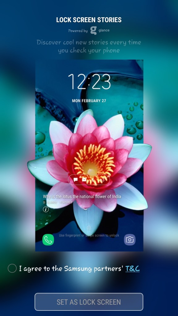 Have You Explored The Glance Feature On Your Samsung And Xiaomi Phones Yet