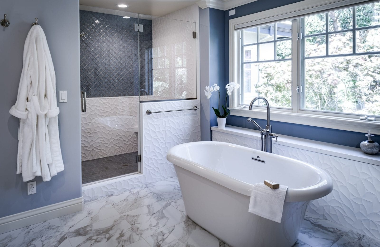 Beautiful And Tranquil East Bay Master Bathroom Remodel