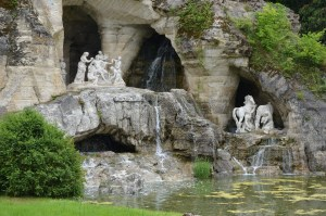 Grotto-like Area with Sculpture and Fountains