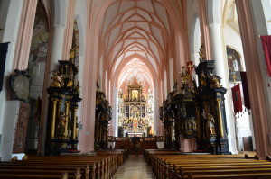 Interior of the Church in Mondsee