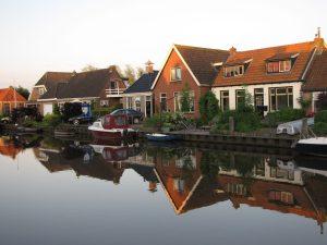 Sunset in Birdaard, the Netherlands