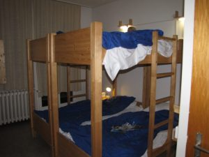 Bunks in a Semi-Private Hostel Room