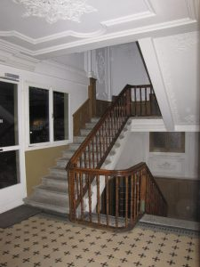 Grand Stairway in the Old Section of the Hostel in Switzerland