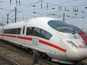 A High-Speed German Train ICE - Intercity Express