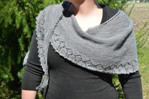 The Gunmetal Shawlette that I Made in Paris