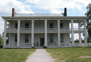 The Front Porch of the Home on the Carnton Plantation