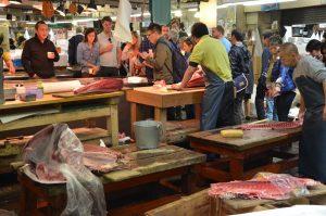 Preparing the Catch, Tsukiji Fish Market, Tokyo