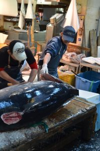 Filleting a Tuna, Tsukiji Fish Market