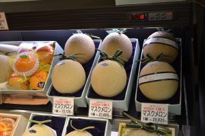 Heritage Melons at the Tokyo Food Show, Japan