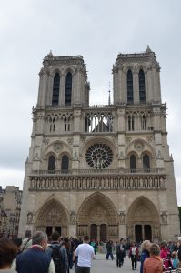 Notre Dame Cathedral from the West, Paris, France