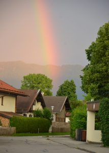 Rainbow over Lenggries, Germany