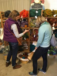 My Daughters Shopping for Roving, Fiber in the Boro