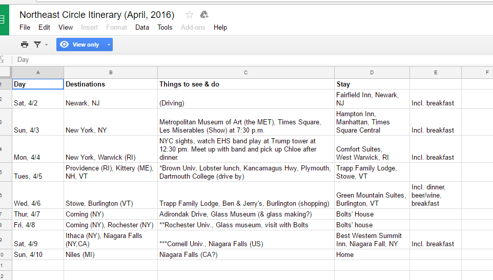 travel planning and organization with google drive ms mae travels