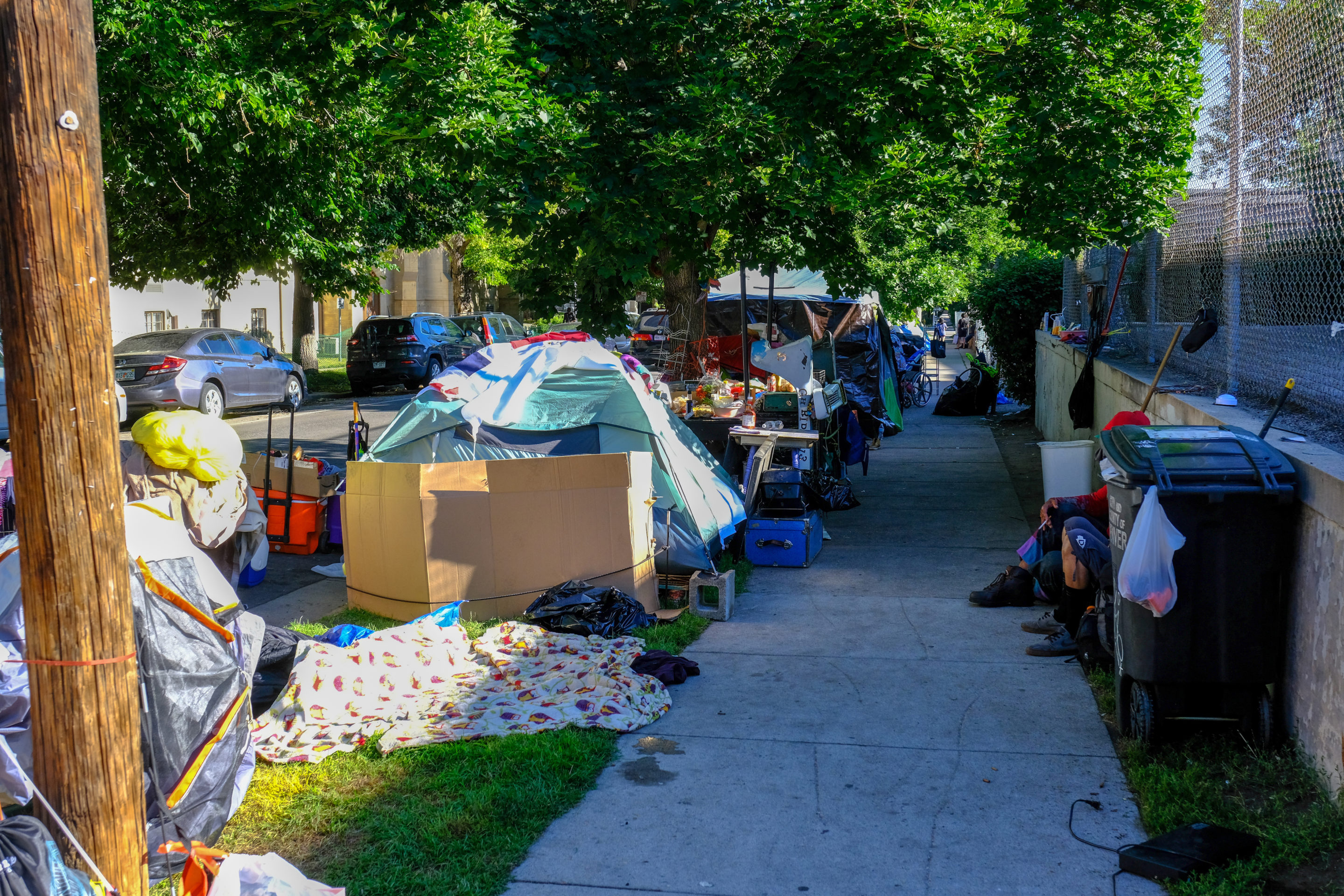 Officials 'confused' by sweep of small homeless encampment on Glenarm