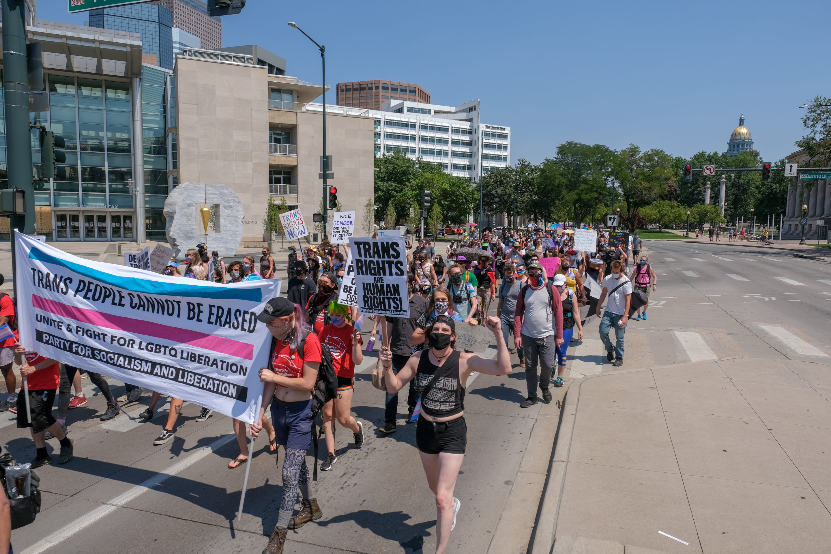 March 4 Trans Rights protest brings vibrance to Denver