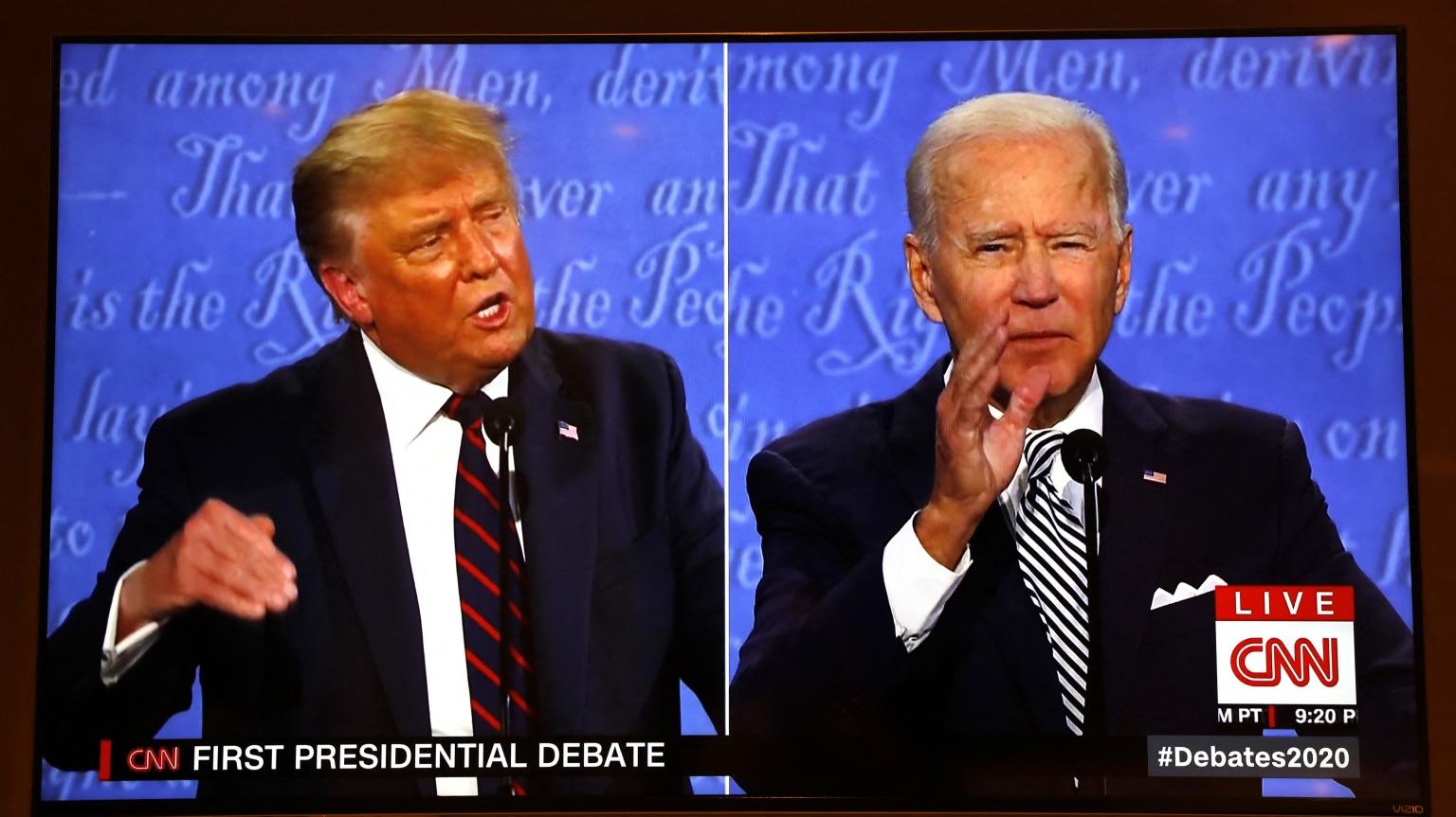 Trump and Biden brawl in chaotic first debate