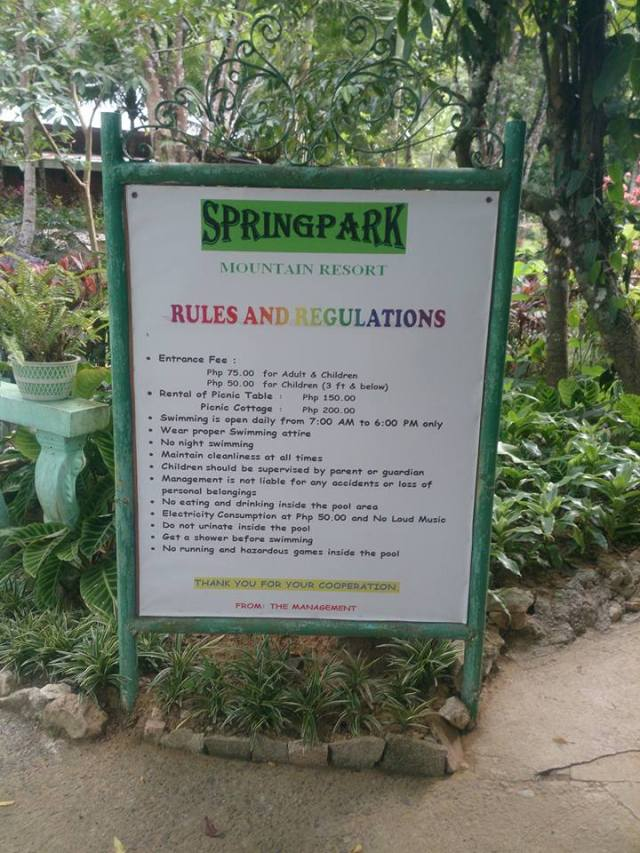 Be sure to read the rules and regulations. We were not in proper swimming attire though.